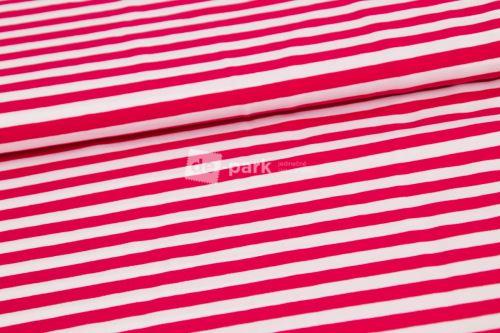 Úplet - Prúžok - sýto ružová / biela