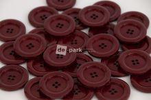 DE-PARK knoflíky - 3cm - bordo