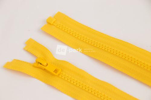 Zip YKK - kostěný dělitelný - žlutá 125