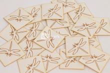 Koženkový štítek - VÁŽKA - bílá