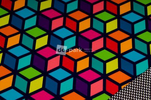 DESIGNED BY DE-PARK - Jarní softshell 18/12 - Geometry na modré