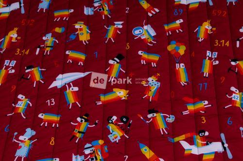 DESIGNED BY DE-PARK - Prošívaný zateplený šusťák - Ovečky z Déčka - bordo