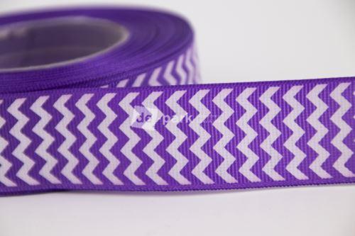 Rypsová stuha - cikcak - fialová