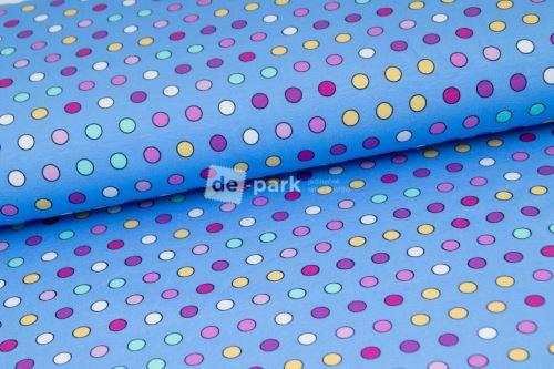 Úplet - Barevné puntíčky - modrá
