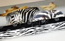 Slon a zebra - šedá