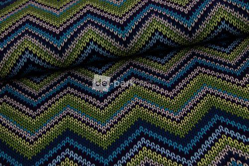 Zimné softshell - pletený vzor -  modrý