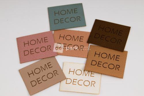 Koženkový štítek - HOME DECOR