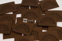Koženkový štítek - DUHA - bronzová