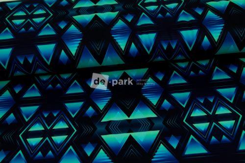 DESIGNED BY DE-PARK - Funkční úplet Ag - Geometrie modromintová