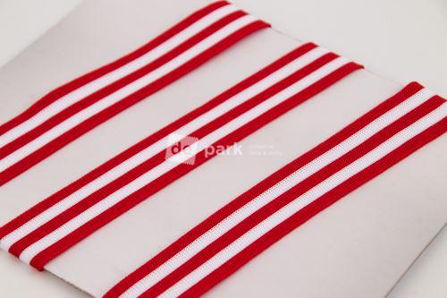 SIDE STRIPES - červenobílý