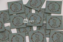 Koženkový štítek - IT´S MY STYLE - mint