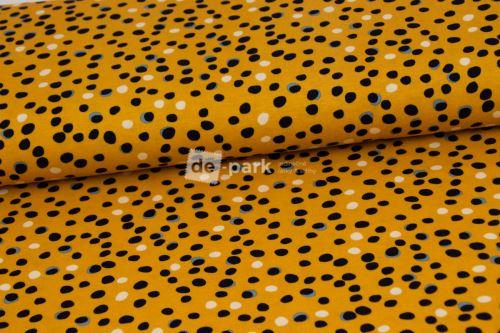 Úplet - Nepravidelné puntíčky na žluté