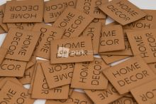 Koženkový štítek - HOME DECOR - velbloudí