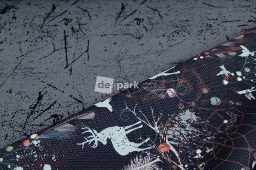 DESIGNED BY DE-PARK -Oboustranný letní softshell - beton s jeleny