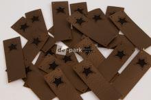 Koženkový štítek - PŘES OKRAJ - HVĚZDIČKA - bronzová