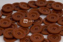 DE-PARK knoflíky - 3cm - hnědá