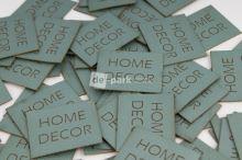 Koženkový štítek - HOME DECOR - mint