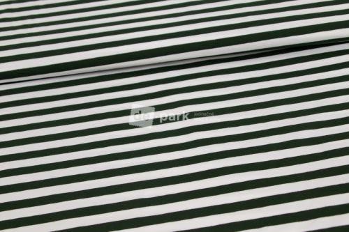 Úplet - Proužek - lahvově zelená/bílá