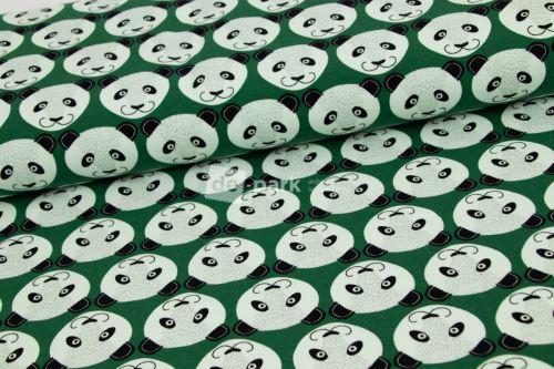 Teplákovina - Pandy na zelené - počesaná