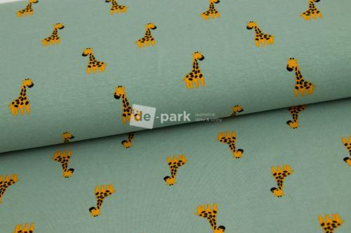 Úplet - Žirafky na šedozelené