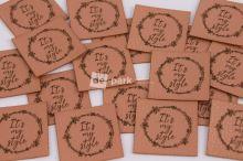 Koženkový štítek - IT´S MY STYLE - měděná