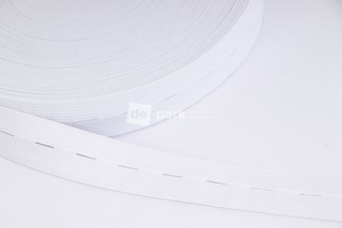 Regulační guma - bílá 2,5cm