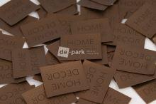 Koženkový štítek - HOME DECOR - bronzová