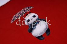 Panda s králíkem - modrá - panel