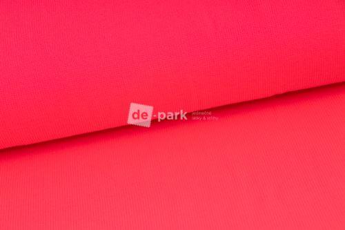 Žebrovaný náplet slabý - neon růžový