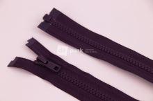 Zip YKK - 55cm - temně ostružinový dělitelný