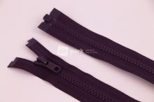 Zip YKK - 75cm - temně ostružinový dělitelný