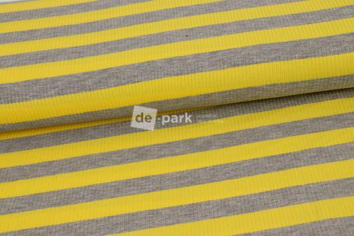 Viskózové prúžok - žltá / sivá