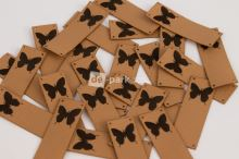 Koženkový štítek - PŘES OKRAJ - MOTÝLEK - velbloudí