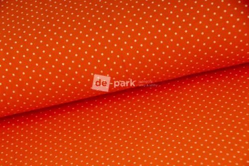 Úplet - Mini puntíčky - oranžová