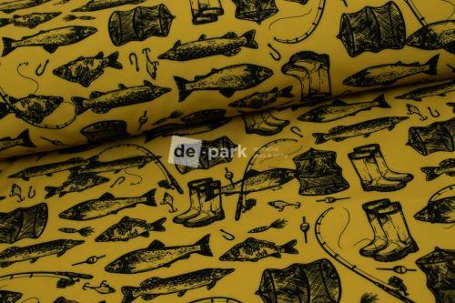 DESIGNED BY DE-PARK - Zimní softshell 10/3 - Ryby a rybáři