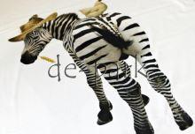 Slon a zebra - biela