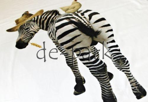 Slon a zebra - bílá