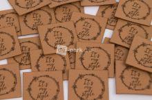 Koženkový štítek - IT´S MY STYLE - velbloudí