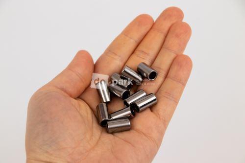 Kovové koncovky - okrúhlé - černasté 10 ks