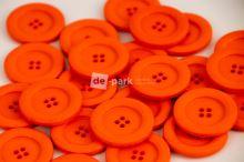 DE-PARK knoflíky - 3cm - pomerančová