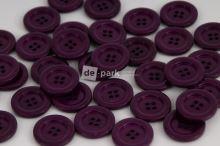 DE-PARK knoflíky - 2cm - tmavá ostružina