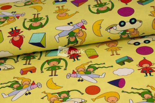 DESIGNED BY DE-PARK - úplet Kouzelná školka - žlutozelená
