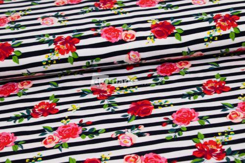 Úplet - Květy na proužku