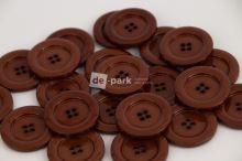 DE-PARK knoflíky - 2cm - čokoládově  hnědá 729