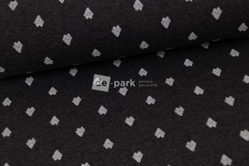 Kolekce nápletů - velké šipky na tmavě šedé