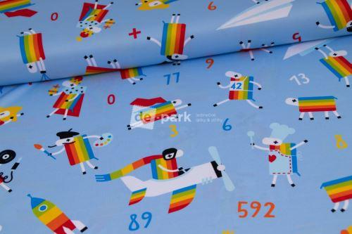 DESIGNED BY DE-PARK - Funkční úplet - Ovečky z Déčka - světle modrá