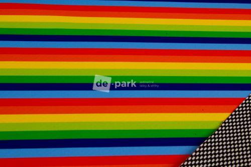 DESGNED BY DE-PARK - Jarní softshell 18/12 - Duhové proužky