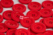 DE-PARK knoflíky - 3cm - červená