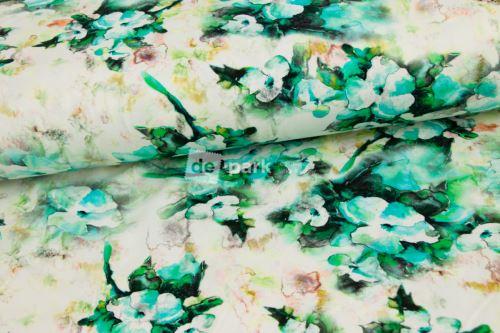 Úplet - Akvarelové fialky - smaragdové