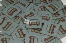 Koženkový štítek - AUTÍČKO - mint